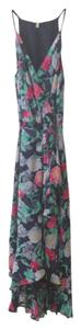 Navy, Floral Maxi Dress by Joie