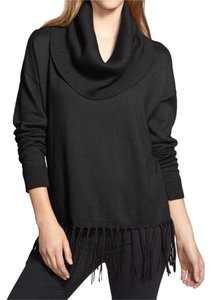 Michael Kors Fringe Cowl Neck Loose Fit Sweater