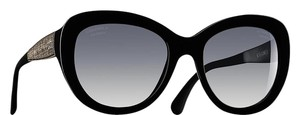 Chanel 5346 CC Butterfly Signature Oversized Classic Cateye Tweed Polarized