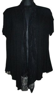 BYER Fall Autumn Winter Lace Stretchy Top Black