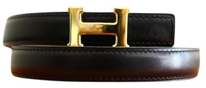 Herms 18MM/70CM Auth. Hermes Belt Kit Gold Buckle
