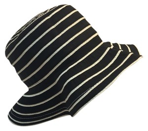 Peter Grimm Black And Cream Natural Fiber Packable Hat