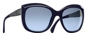 Chanel 5347 CC Square Butterfly Signature Oversized Classic Tweed Navy Blue