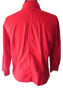 Christopher & Banks Red Womens Jean Jacket