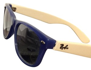 Ray-Ban Blue Frame Cream Rb2132 New Wayfarer Unisex Ray-ban Sunglasses