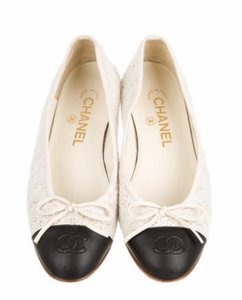 Chanel Sale! Black and White Flats