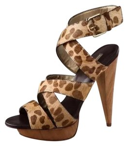 Report Signature Cheetah Calf Hair Platforms