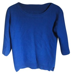 Old Navy Side Slits Blue Wide Sleeves Scoop Neck Sweater