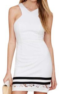 Nasty Gal Cut-out Lace Trim Contrast Color-blocking Halter Dress