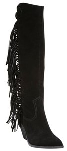 Carlos by Carlos Santana Lever Fringed Western Tall Black Boots