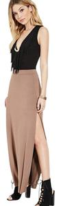 Forever 21 Maxi Skirt Taupe