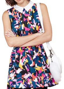 Nasty Gal short dress Multi Geometric Cut-out Collared Color-blocking Pleated on Tradesy