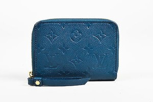 Louis Vuitton Louis Vuitton Blue Empreinte Leather Monogrammed Secret Compact Wallet