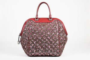 Louis Vuitton Burgundy Tote in Red