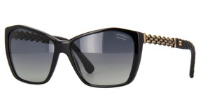 Chanel 5327 CC Logo Square Butterfly Chain Link Oversized Classic Polarized
