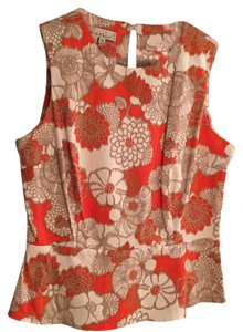 Other Top Orange, taupe, white