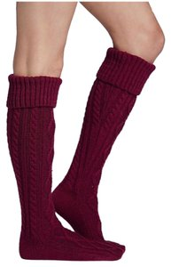 Free People Cable Knit Knee High Socks