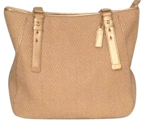 Cole Haan Tote in Cream and gold