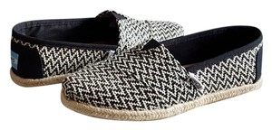 TOMS Rope Sole Black Woven Flats