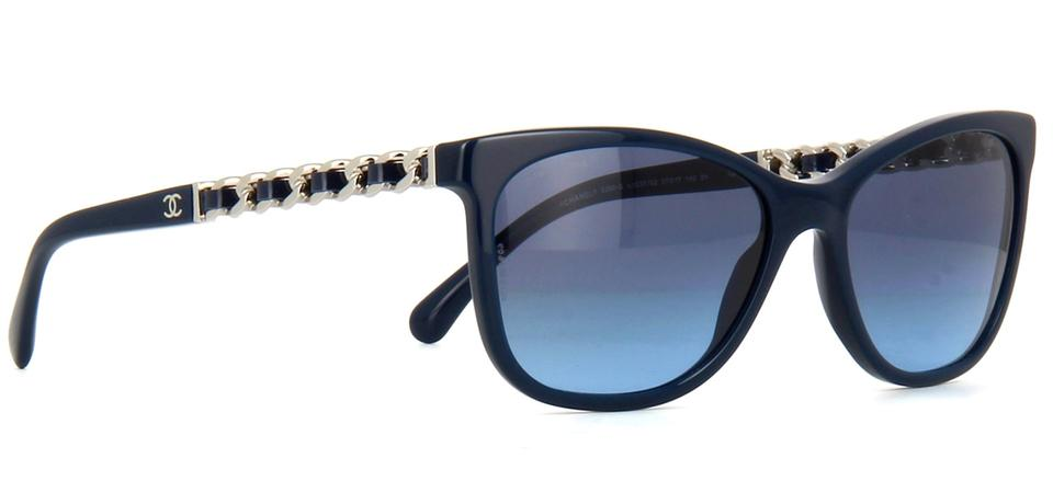 Chanel Navy Blue Silver 5260 Q Cat Eye Cateye Chain Link Quilted ... : chanel quilted glasses - Adamdwight.com