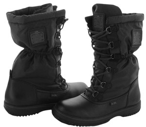 Coach Nylon Cold Weather Hiking Black Boots