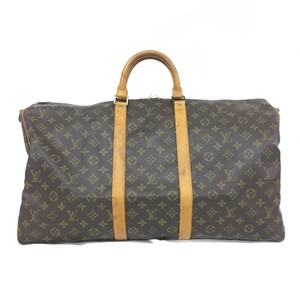 Louis Vuitton Lv Keepall 55 Canvas Monogram Travel Bag