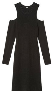 Elie Tahari short dress Black Cold Shoulder Sweater on Tradesy
