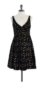 MILLY short dress Black Tan & Grey Abstract Geo Print on Tradesy