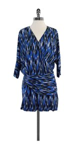 Thakoon short dress Blue Black Print Faux on Tradesy