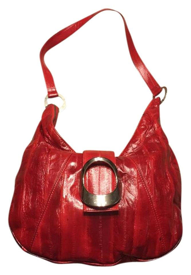 39357f9a20 Versace Red Leather Shoulder Bag - Tradesy