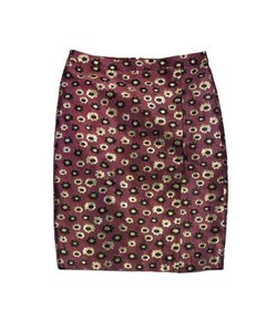 J.Crew Mauve Gold Black Floral Skirt