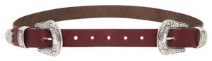 ASOS Leather Double Buckle Western Belt