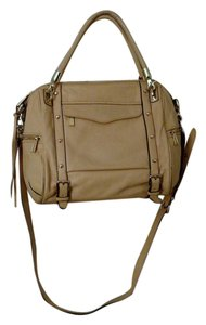 Rebecca Minkoff Crossbody Removable Detachable Leather Satchel in Beige/Tan/Biscuit/Off White/Cream