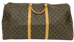 Louis Vuitton Lv Keepall 60 Canvas Monogram Travel Bag