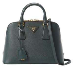 Prada Satchel in Emerald