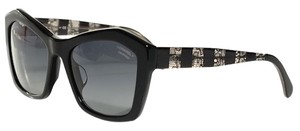 Chanel 5296 Signature Butterfly Lace Tweed Cateye CC Oversized Cat Polarized