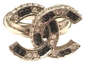 Chanel Chanel Strass CC Ruthenium Ring