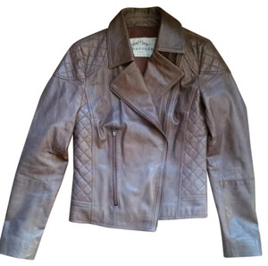 Urban Code Leather Biker Brown Leather Jacket