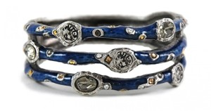 Tat2 Designs Jewelry Coin & Crystal Bangle with 3 rows New from Tat2designs