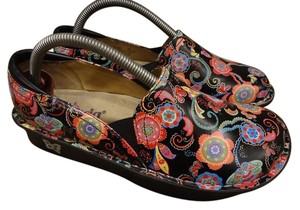 Alegria by PG Lite Leather Paisley Floral black Mules