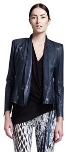 Helmut Lang Baltic Teal Leather Jacket