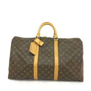 Louis Vuitton Lv Keepall 50 Canvas Monogram Travel Bag