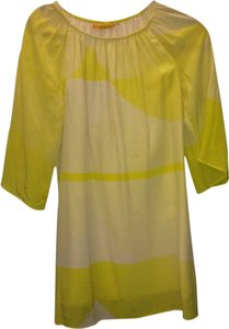 Alice + Olivia short dress Yellow/White Summer Yellow Flowy on Tradesy