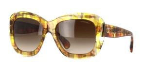 Chanel 5324 Signature Butterfly Square CC Oversized Mosaic Jeweled Yellow