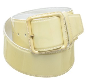 Miu Miu Miu Miu Yellow Patent Leather Wide Belt (Size 50)