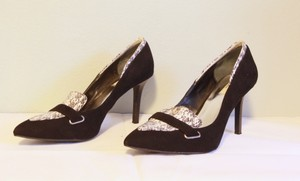 Simply Vera Vera Wang Snakeskin Suede black Pumps