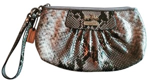 Coach Snakeskin Clutch Gift Wristlet in Metallic