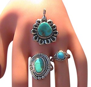3 pcs Sterling Silver Turquoise Lot