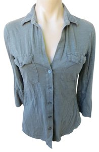James Perse Size 1 Small Top Gray