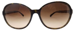 Chanel CHANEL Tortoise Brown Oval Sunglasses RETAIL $520